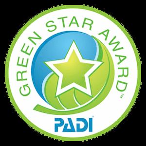 PADI Green Star Award for Trawangan Dive on Gili Islands