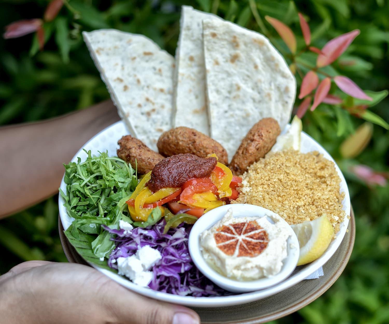 Vegan friendly option at Fat Cats. Falafel salad bowl